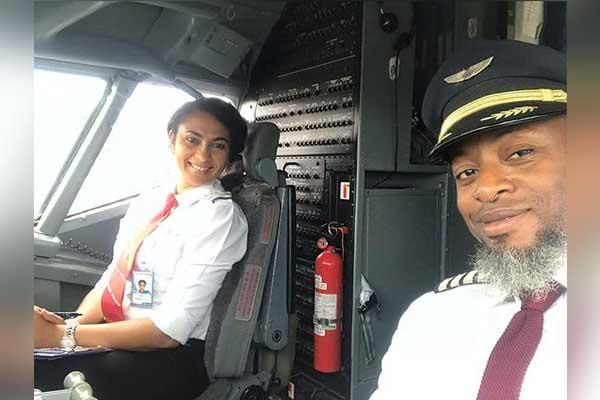 The first female pilot in Akwa Ibom, Captain Violet Aniema Medekong Enahoro