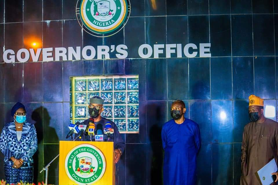 State Of The State Address By The Governor Of Ogun State, His Excellency, Prince Dapo Abiodun Mfr, On The #Endsars Protest, On Tuesday, 20th October, 2020.