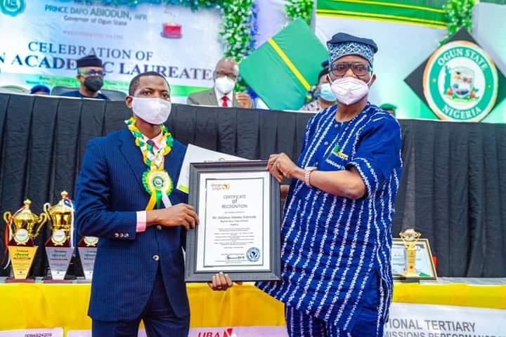 Gov. Abiodun showers house, cash gifts on academic laureates